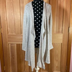 Long Open Draped Cardigan